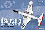 F2H3 VF41 Black Aces USN Fighter -- 1/72 Scale -- Plastic Model Airplane Kit -- #12548