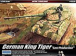 German King Tiger Last Production -- Plastic Model Military Vehicle Kit -- 1/35 -- #13229