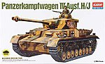 PzKpfw IV Ausf H Tank -- Plastic Model Military Vehicle Kit -- 1/35 -- #13234