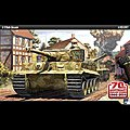 Tiger I Mid Version Tank Normandy Invasion -- Plastic Model Military Kit -- 1/35 Scale -- #13287