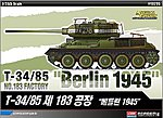 T-34/85 No.183 Factory Berlin 1945 -- Plastic Model Military Vehicle Kit -- 1/35 Scale -- #13295