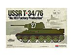 T-34/79 No.183 Factory Production -- Plastic Model Military Tank Kit -- 1/35 Scale -- #13505