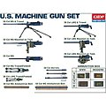 US WWII Machine Gun Set -- Plastic Model Military Weapon -- 1/35 Scale -- #1384