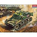 M3A1 Stuart Light Tank -- Plastic Model Military Vehicle Kit -- 1/35 -- #1398