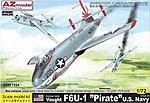 F6U1 Pirate USN Fighter -- Plastic Model Airplane Kit -- 1/72 Scale -- #7224