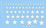 US Stars for Softskinned Vehicles (White) -- Plastic Model Vehicle Decal -- 1/35 Scale -- #35021w