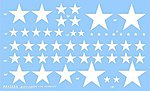 US Stars for M8/M7, M10/M12, DUKW/GPA (W) -- Plastic Model Vehicle Decal -- 1/35 Scale -- #35024w