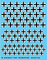 Late WWII German Crosses -- Plastic Model Vehicle Decal -- 1/35 Scale -- #35104