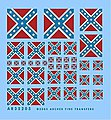 Confederate Battle Flags -- Plastic Model Vehicle Decal -- 1/35 Scale -- #35205