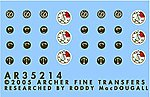 German Instrument Faces for SdKfz 250/251/11 Series -- Plast Model Decal -- 1/35 Scale -- #35214