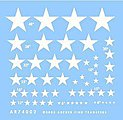 US National Insignias Stars for Vehicles -- Plastic Model Vehicle Decal -- 1/72 Scale -- #74002w