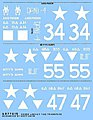 US 6th Armored Div. M4 Early -- Plastic Model Vehicle Decal -- 1/35 Scale -- #77015