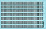 Surface Details 14'' Railroad Louvers -- O Scale Model Railroad Decal -- #88036