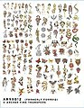 Traditional Tattoos -- Plastic Model Decal -- 1/32 Scale -- #99012