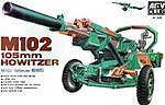 M102 105mm Howitzer Gun -- Plastic Model Artillery Kit -- 1/35 Scale -- #3506