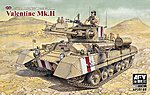 British Mk III Valentine Mk II Infantry Tank -- Plastic Model Tank Kit -- 1/35 Scale -- #35185