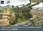 105mm Howitzer M101A1 Gun w/M2A2 Carriage -- Plastic Model Artillery Kit -- 1/35 Scale -- #35191