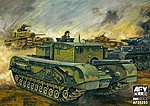 British 3 inch Churchill Tank -- Plastic Model Military Vehicle Kit -- 1/35 Scale -- #35253