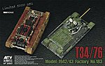 T34/76 Mod 1942/43 No.183 Tank w/Clear Turret -- Plastic Model Tank Kit -- 1/35 Scale -- #35s57