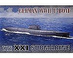 WWII German U-Boat Type XXI Submarine -- Plastic Model Submarine Kit -- 1/350 Scale -- #73501