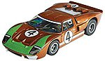 HO Ford GT40 #4 LeMans (Donohue) Mega-G Collectors -- HO Scale Slotcar Car -- #70340