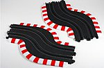 HO 9'' Chicane Track Set- Left & Right -- HO Scale Slot Car Track -- #70617