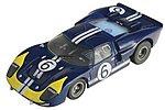 Mega G GT40 Clear #6 Andretti -- HO Scale Slotcar Car -- #71248