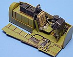 P51D Cockpit Set For a Tamiya Model -- Plastic Model Aircraft Accessory -- 1/48 Scale -- #4072