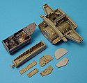 Me262A Wheel Bay & Cockpit Set For Tamiya -- Plastic Model Aircraft Accessory -- 1/48 -- #4148