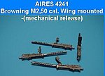 Browning M2 .50cal Wing Mounted -- Plastic Model Aircraft Accessory -- 1/48 Scale -- #4241
