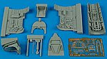 Spitfire Mk V Cockpit Set For a Hasegawa Model -- Plastic Model Aircraft Accessory -- 1/48 -- #4418