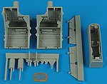 F22A Wheel Bays For a Hasegawa Model -- Plastic Model Aircraft Accessory -- 1/48 Scale -- #4500