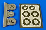OV1 Mohawk Wheels for a Roden Model -- Plastic Model Aircraft Accessory -- 1/48 -- #4614