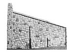 Bridge Abutment Wing Walls (Random Stone, 2 Pack) -- HO Scale Model Railroad Scenery -- #105
