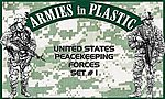 US Peacekeeping Forces Set #1 (18) -- Plastic Model Military Figure -- 1/32 Scale -- #5580