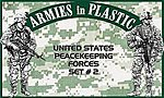 US Peacekeeping Forces Set #2 (18) -- Plastic Model Military Figure -- 1/32 Scale -- #5581
