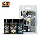 Air Series Aircraft Engine Effects Weathering Set -- Hobby and Model Paint Set -- #2000