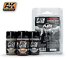 Air Series Aircraft Landing Gear Weathering Set -- Hobby and Model Paint Set -- #2030
