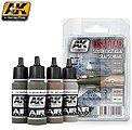 USAF TAC Southeast Asia (SEA) Scheme Acrylic Paint Set (4 Colors) -- Hobby and Model Paint -- #2100