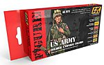 US Army Soldier Uniform Acrylic Paint Set (6 Colors) -- Hobby and Model Paint -- #3070