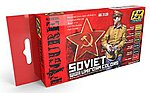Soviet WWII Uniform Colors (6 Colors) 17ml Bottles -- Hobby and Model Acrylic Paint -- #3120
