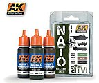 NATO AFV Colors Acrylic Paint -- Hobby and Model Paint Set -- #4001