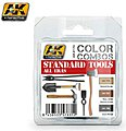 Color Combos Standard Tools All Eras Acrylic Paint Set (3 Colors) -- Hobby and Model Paint -- #4174