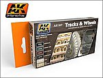 Track & Wheels Acrylic Paint -- Hobby and Model Paint Set -- #557