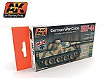 German War Colors 1937-44 Acrylic Paint -- Hobby and Model Paint Set -- #560