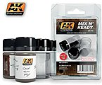 Mix N' Ready 35ml Empty Jars w/Labels (4) -- Hobby and Model Paint Supply -- #616
