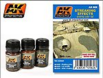 Streaking Effects Enamel Paint (12, 13, 14) -- Hobby and Model Paint Set -- #62