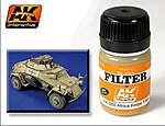Afrika Korps Filter Enamel Paint 35ml Bottle -- Hobby and Model Enamel Paint -- #65