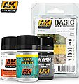 Basic Weathering Paint Set (49, 88, 677) -- Hobby and Model Paint Set -- #688