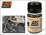 Engine Oil Glossy Enamel Paint 35ml Bottle -- Hobby and Model Enamel Paint -- #84